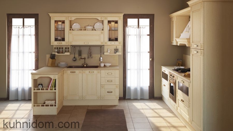 Кухня Флореале Кремона по двум стенам