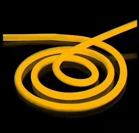 Гибкий неон Желтый, 220V 1,5*2,5 см SMD