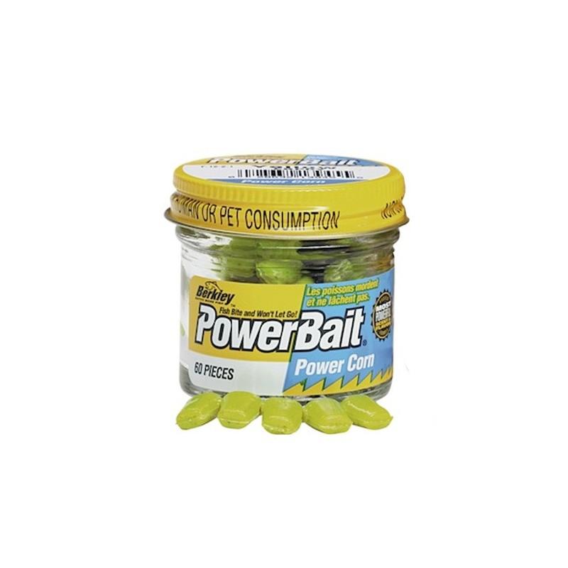 Силиконовая приманка кукуруза Berkley PowerBait желтая (1079175) 60 шт