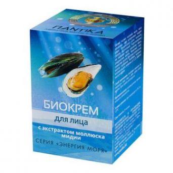 Биокрем для лица с экстрактом моллюска мидии «Энергия моря» 30 гр