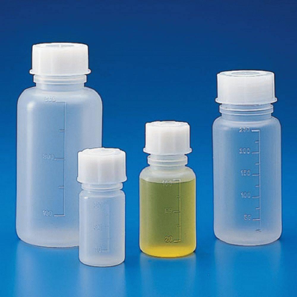 Банка широкогорлая для реактивов, с делениями, п/п 500 мл (белая крышка) (Упаковка 3 шт.)