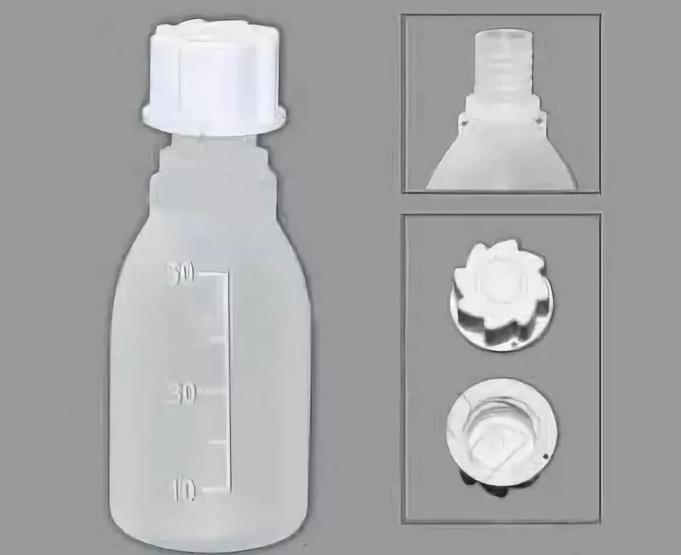 Бутылки узкогорлые, градуированные Кartell 100 мл (Упаковка 5 шт.)