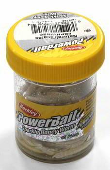 Силиконовая приманка личинка для рыбалки Berkley PowerBait 2,5 см белая (1109189) 55 шт