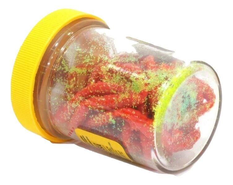 Силиконовая приманка личинка для рыбалки Berkley PowerBait 2,5 см красная (1109087) 55 шт