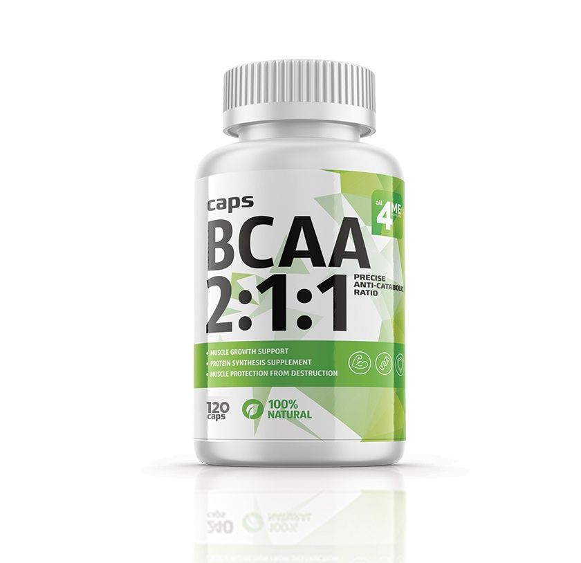 4Me Nutrition BCAA 2:1:1 500 мг 120 капсул