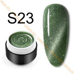 "Гель лак Venalisa ""Кошачий глаз - Glitter Laser"" S23"