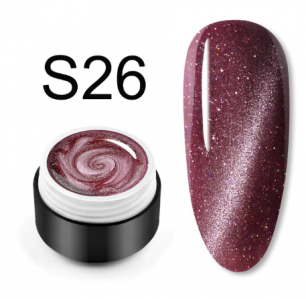 "Гель лак Venalisa ""Кошачий глаз - Glitter Laser"" S26"