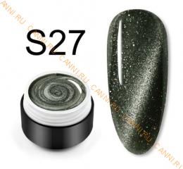 "Гель лак Venalisa ""Кошачий глаз - Glitter Laser"" S27"