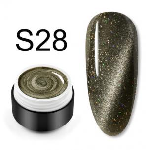 "Гель лак Venalisa ""Кошачий глаз - Glitter Laser"" S28"