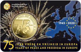 75 лет Мира и Свободе в Европе 2,5 евро Бельгия  2020 блистер на заказ