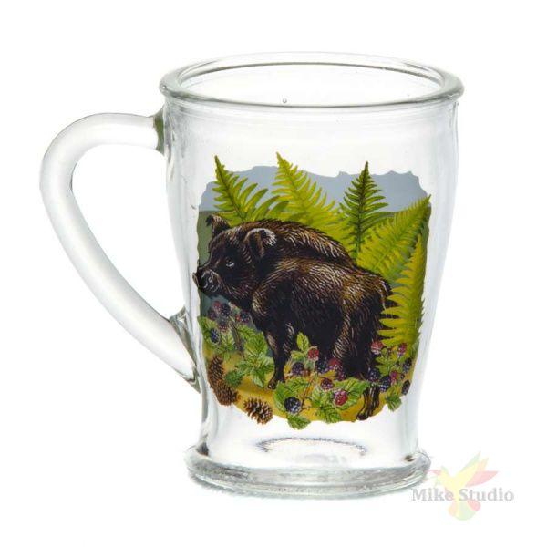 """Набор 2 предмета: Кружка для чая 200 мл с деколью """"Кабаны"""""""