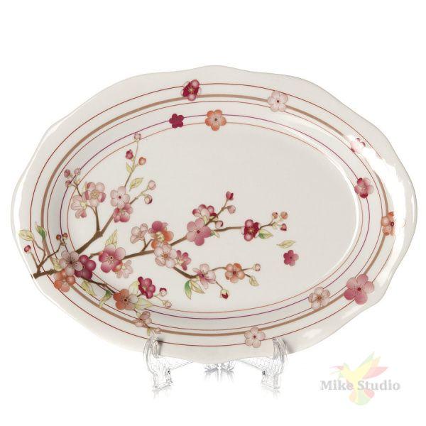 Тарелка овальная Domenik Blossom, длина 32 см
