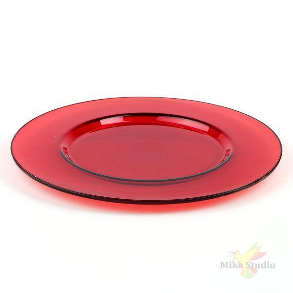 """Блюдо круглое Pasabahce """"Arte"""", цвет красный, D=35 см"""