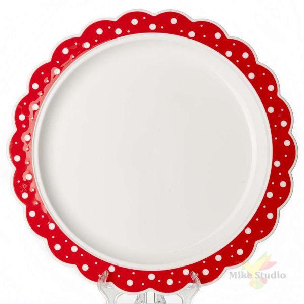 Блюдо круглое Горошек , D=37 см
