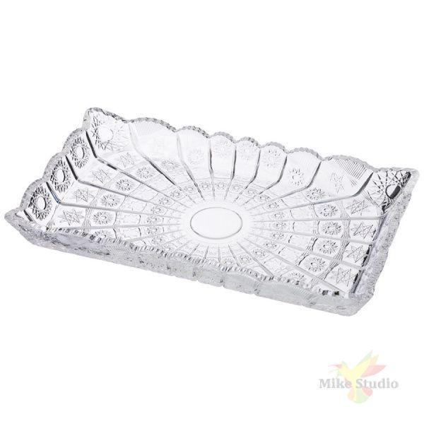 Блюдо Muza crystal 17,5*30*4 см.