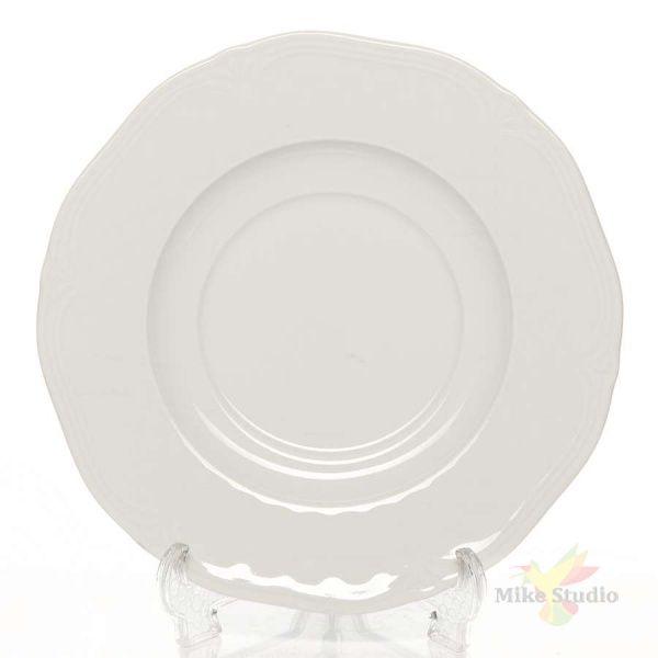 Блюдце «Афродита»; фарфор; D=17см; белый