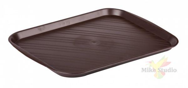 Поднос столовый 355х470мм (коричневый) (уп.10)
