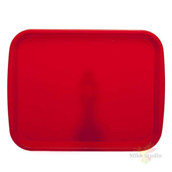 Поднос прямоугольный 470*365 мм цв.красный