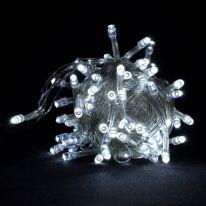 Однотонная гирлянда-нить, 100 ламп 8.5 м., белый холодный