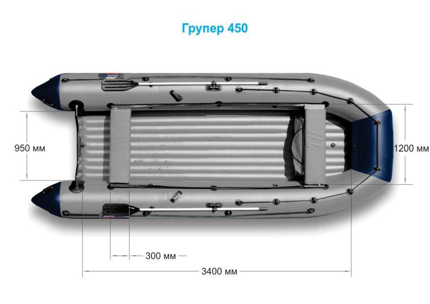 Лодка НДНД «Групер» 450