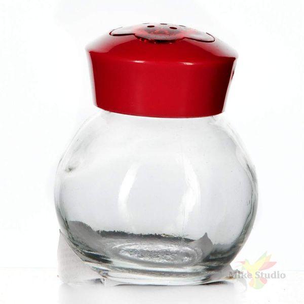"""Солонка """"Herevin"""", цвет: красный, прозрачный, 60 мл"""