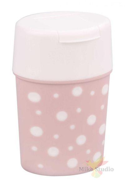 Солонка Горошек (бело-розовый)