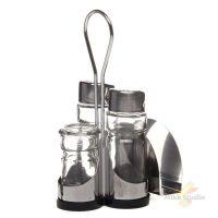 Набор для специй 3 пр. (соль, перец, стаканчик для зубочисток) и салфетница