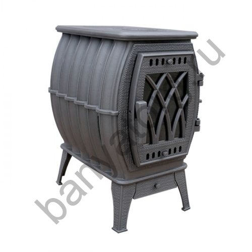 Отопительно варочная печь Бахта NEW (цв. серый металлик)