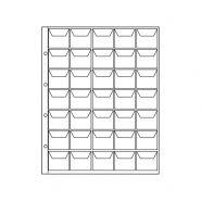 Лист для монет на 35 ячеек с «клапанами» ОПТИМА. СОМС