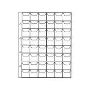 Лист для монет на 48 ячеек с «клапанами» ОПТИМА. СОМС