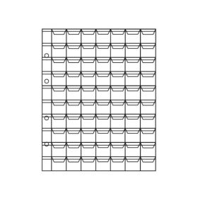 Лист для монет на 70 ячеек с «клапанами» ОПТИМА. СОМС