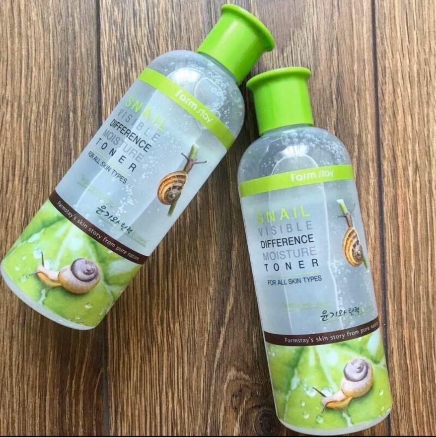 Увлажняющий тонер с экстрактом улитки FarmStay Visible Difference Moisture Toner Snail (KOREA ORIGINAL) (112299)