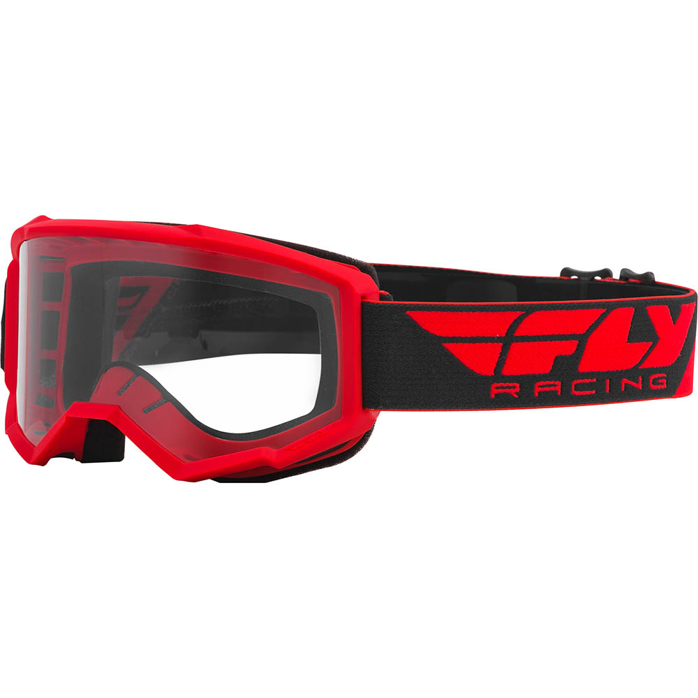 Fly Racing 2021 Focus Red Clear Lens очки для мотокросса
