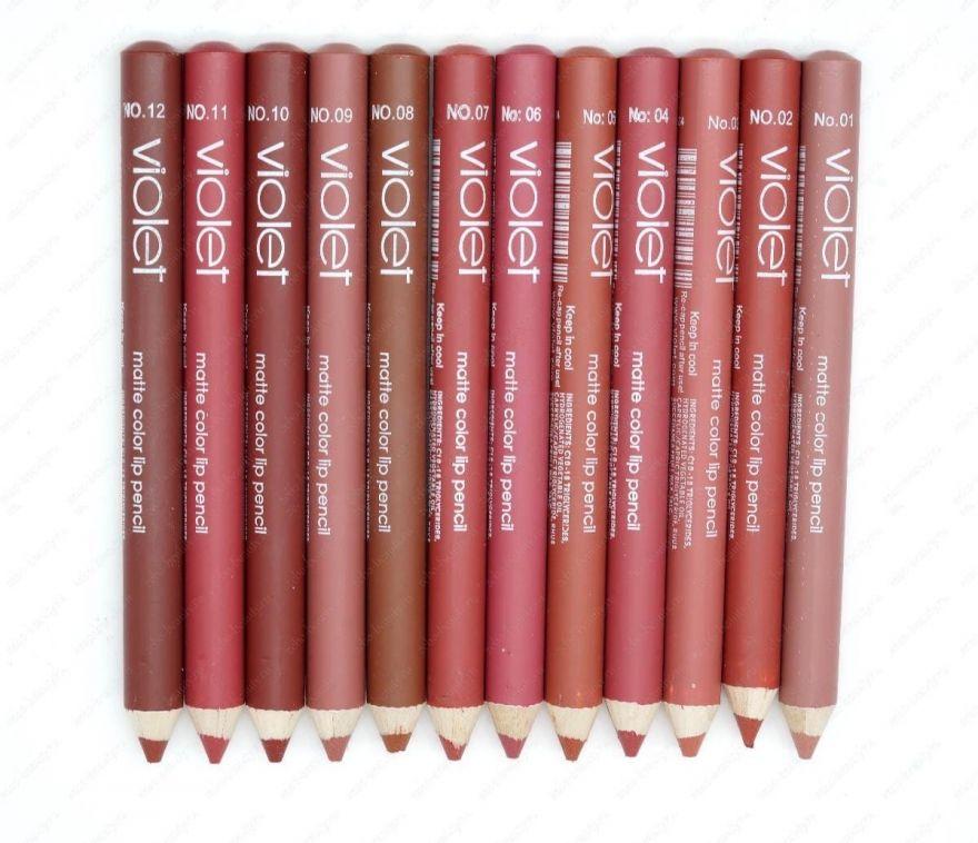 Набор карандашей для губ VIOLET, 12шт (12501)