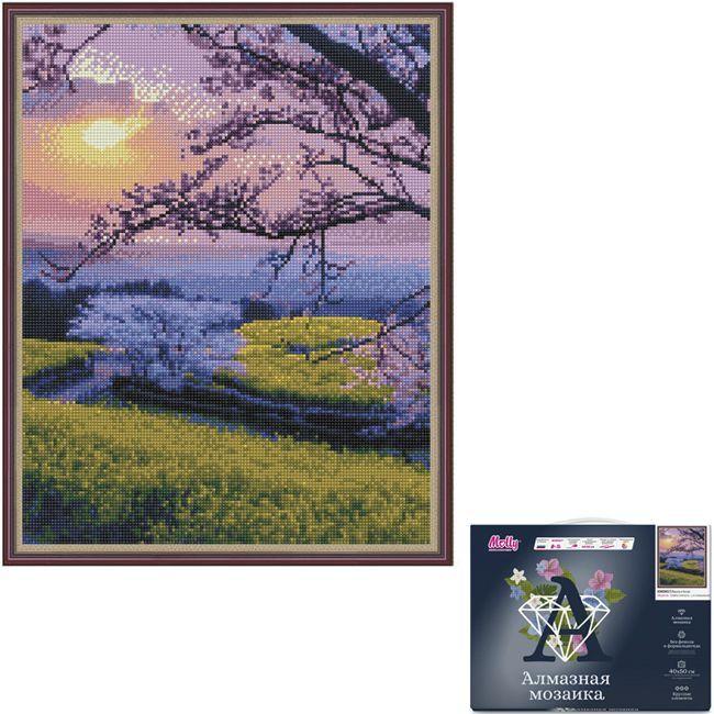 Набор  Картина мозаика с нанесенной рамкой.Весна в Китае 40*50см KM0657