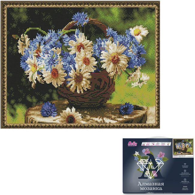 Набор Картина мозаика с нанесенной рамкой.Ромашковое лето 40*50см KM0856