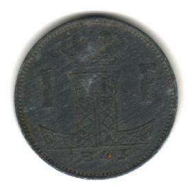 Бельгия 1 франк 1943
