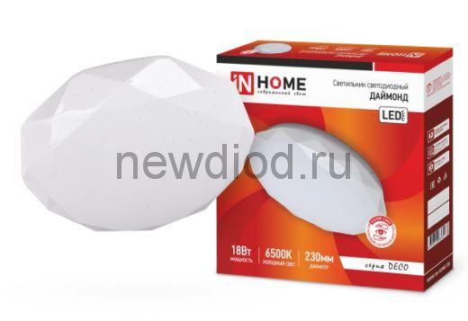 Светильник светодиодный серии DECO 18Вт 230В 6500К 1170лм 230мм ДАЙМОНД IN HOME