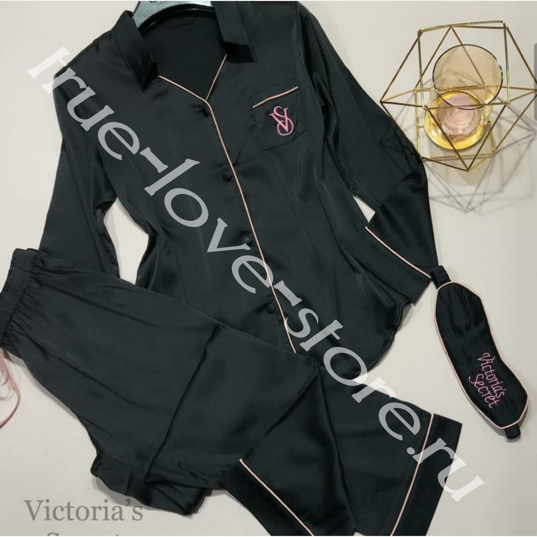 720118-Пижама двойка Victoria'S Secret(+маска для сна)