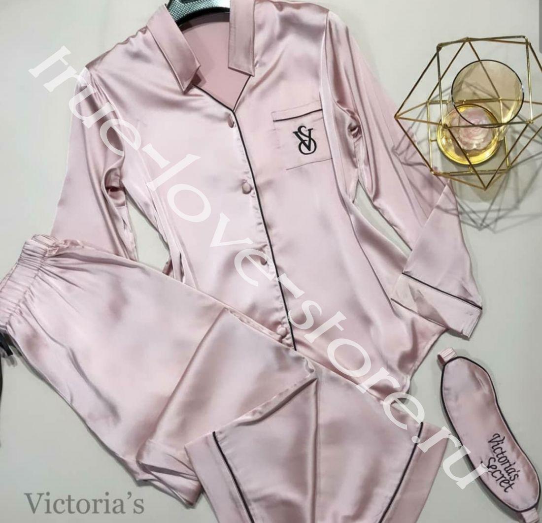 720119-Пижама двойка Victoria'S Secret(+маска для сна)