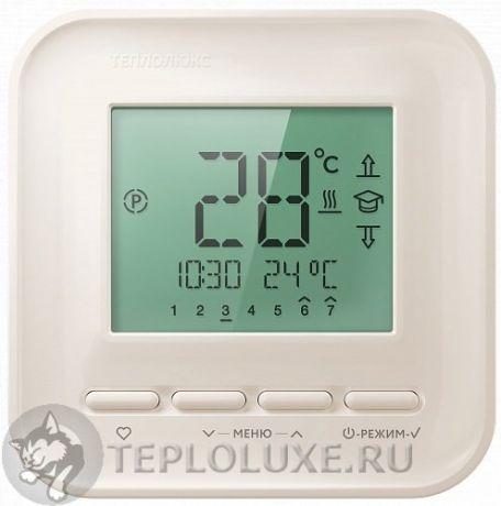 """""""ТЕПЛОЛЮКС"""" 520 Терморегулятор для теплого пола кремовый"""