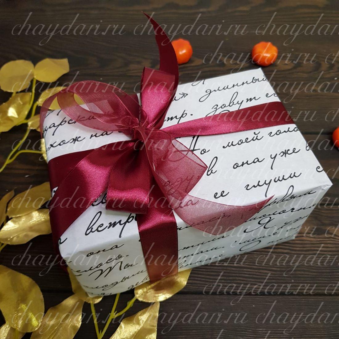 """Коробка с чаем и сладостями """"Строгая для учителя"""""""