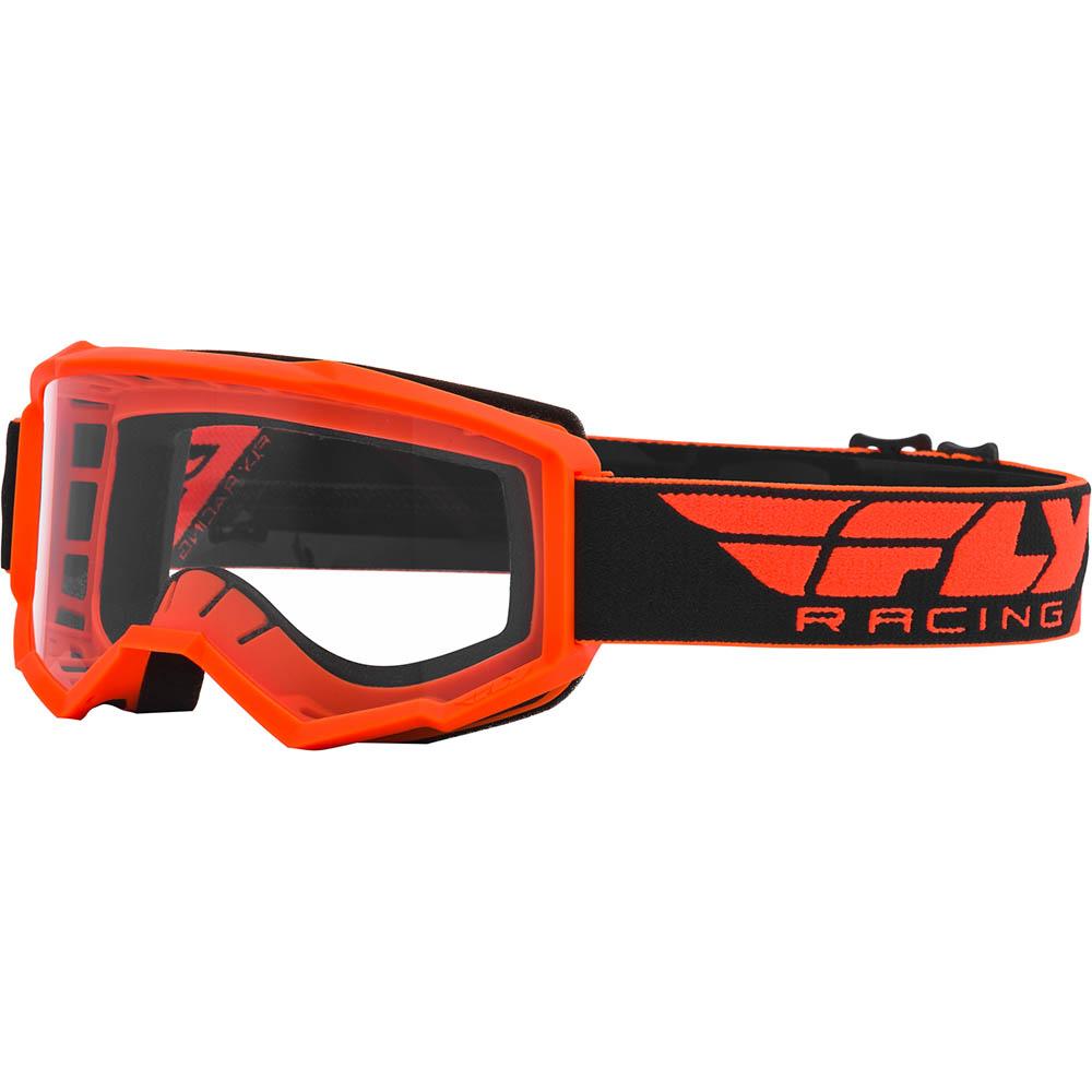 Fly Racing Focus Orange Clear Lens очки для мотокросса