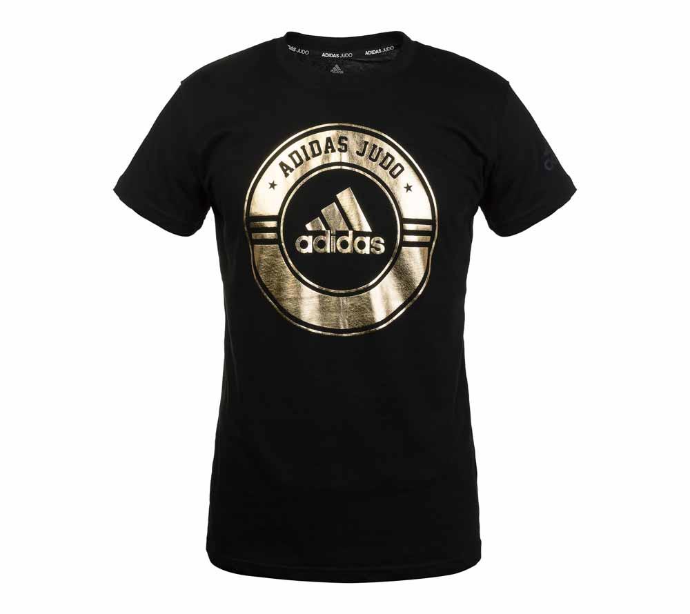 Футболка Adidas Combat Sport T-Shirt Judo черно-золотая, артикул adiCSTS01J