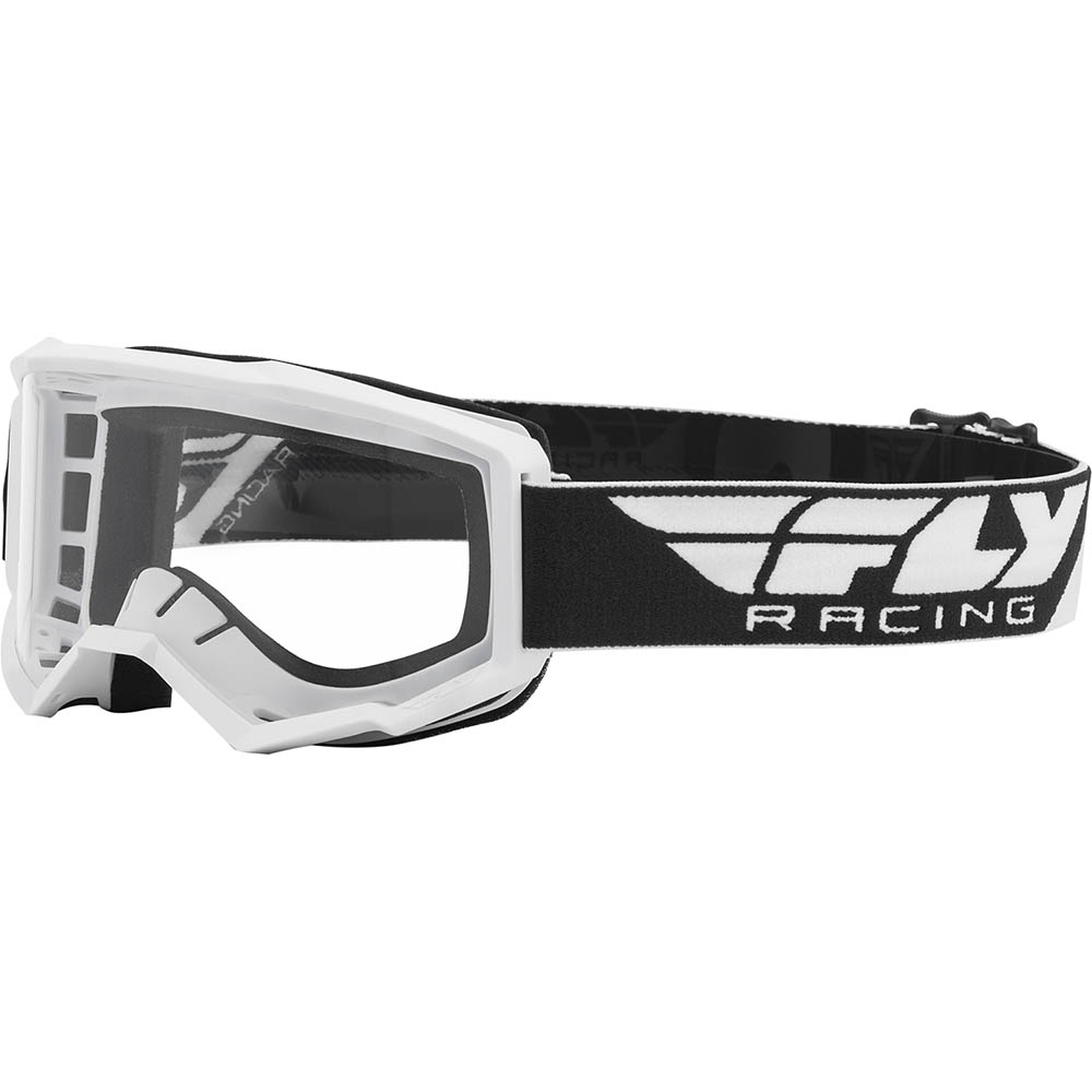 Fly Racing Focus White Clear Lens очки для мотокросса