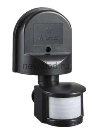 Датчик движения инфракрасный ДД 008 1200Вт 180 гр.12м IP44 черный IN HOME