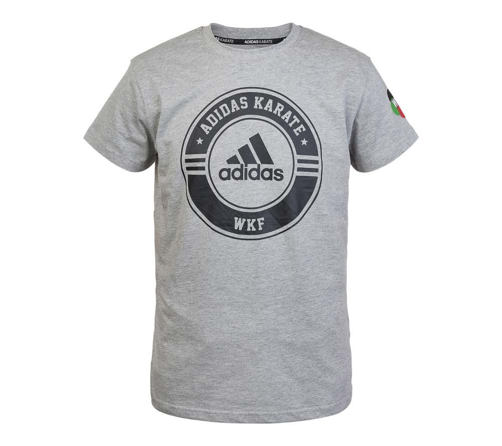 Футболка Adidas Combat Sport T-Shirt Karate WKF серо-черная, артикул adiCSTS01WKF