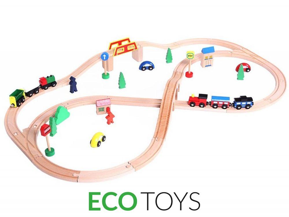 Деревянная железная дорога Eco Toys HJD93664