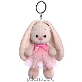 Брелок Зайка Ми в розовой юбке и с бантиком