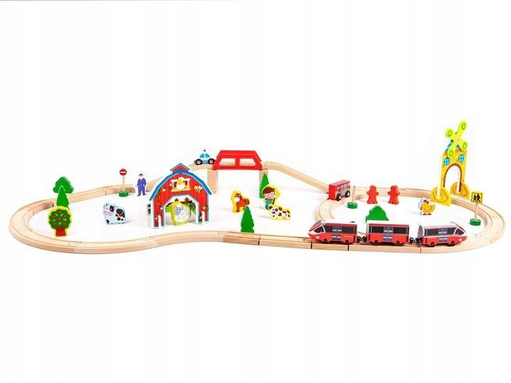 Железная дорога Eco Toys 53 предмета HM180995